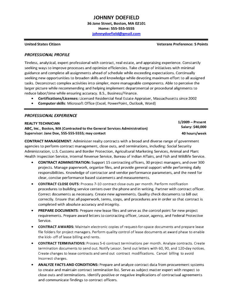 Sample Resumes - VIP Resumé Writing